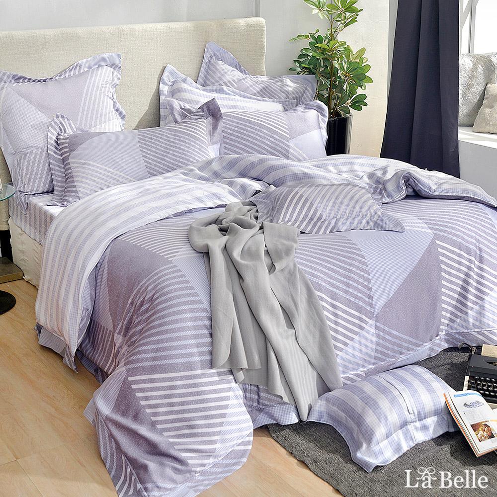 義大利La Belle《漫步珍藏》加大天絲防蹣抗菌吸濕排汗兩用被床包組