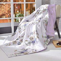 義大利La Belle《紫漾花開》純棉涼被(5x6.5尺)