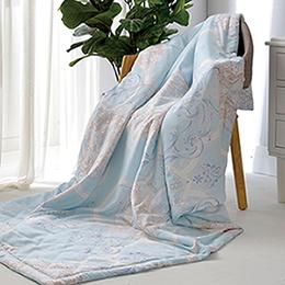 義大利La Belle《花曜琉璃》天然木漿纖維 莫黛爾 涼感 涼被(5x6尺)