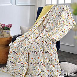 [送:可水洗舒眠枕]義大利La Belle《清新花香》純棉抗菌涼被(5x6尺)