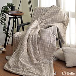[送:可水洗舒眠枕]義大利La Belle《北歐風格》純棉抗菌涼被(5x6尺)