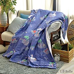 [送:可水洗舒眠枕]義大利La Belle《星空獨角獸》純棉抗菌涼被(5x6尺)