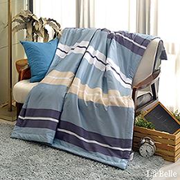 [送:可水洗舒眠枕]義大利La Belle《米蘭假期》純棉抗菌涼被(5x6尺)