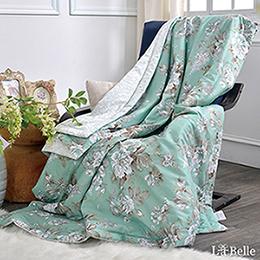[送:可水洗舒眠枕]義大利La Belle《花戀香頌》純棉抗菌涼被(5x6尺)
