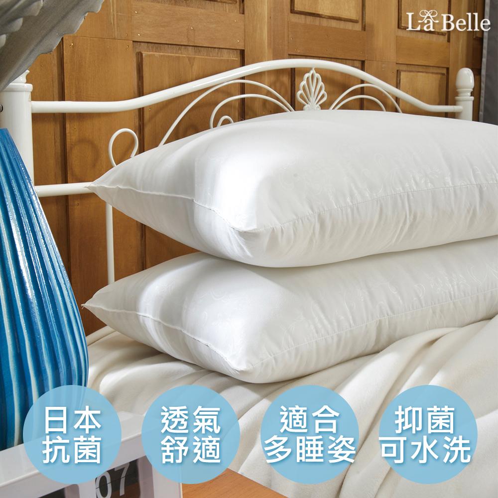 (買一送一限定)義大利La Belle《日本防蹣抗菌可水洗極致舒柔枕》