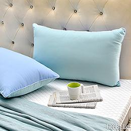 【買一送一】義大利La Belle《日本防蹣抗菌可水洗馬卡龍舒柔枕》夢幻藍x薄荷綠