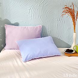 義大利La Belle《日本防蹣抗菌可水洗馬卡龍兒童枕》夢幻藍X甜心紫
