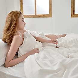 義大利La Belle 100%純天然珍絲純手工緹花原棉冬被--雙人