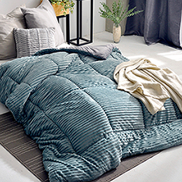 義大利La Belle《魔幻撞色》3D立體魔法絨暖暖被 150*195CM (湖水綠x深灰)