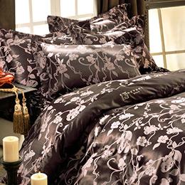 Revert《羅蔓蝶影》雙人緹花四件式舖棉兩用被床包組