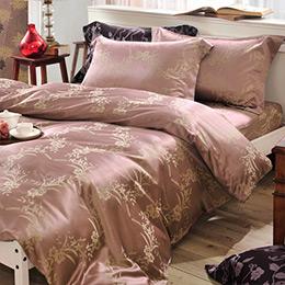 Revert《莎瓦莉亞》雙人緹花四件式舖棉兩用被床包組