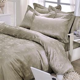 Revert《莫妮蕾娜》加大緹花四件式舖棉兩用被床包組